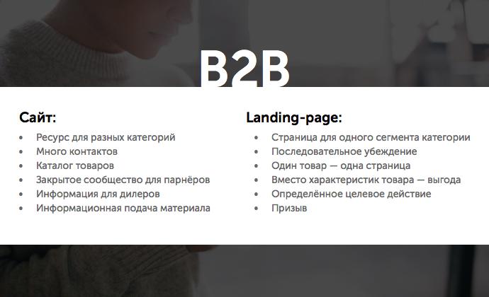 B2B: полноценный сайт или продающий одностраничник?